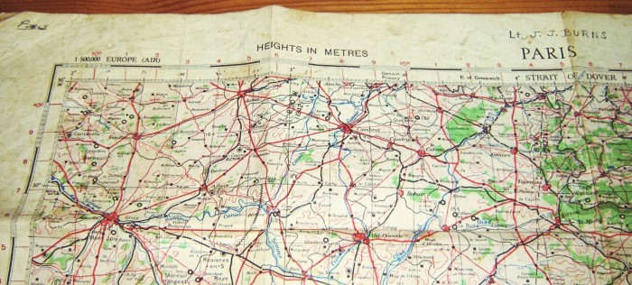 WWII US Military map of Paris (Photo Credit: The Little Brit Shop)